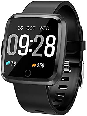 Maypott Fitness Tracker Smart Watch, Sport Watches Tracker with Blood Pressure Heart Rate Monitor, Sleep Monitor, Step Counter, IP67 Waterproof ...