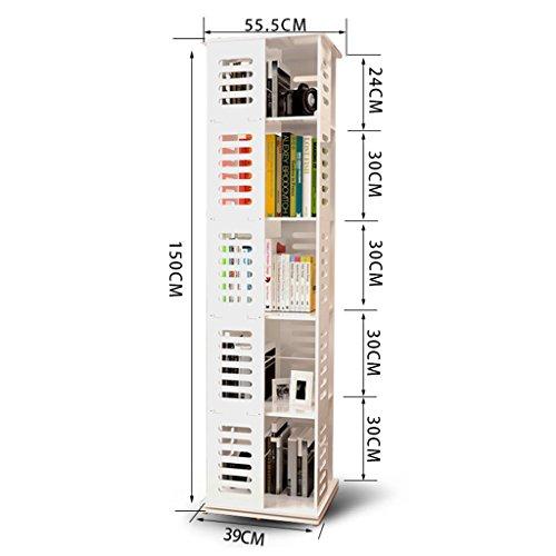 (Bookcases Simple Children's Rotatable Minimalist Student Corner Bookrack Modern Floorstanding 360 ° Swivel Bookshelf Size Optional (Size : 39cm39cm150cm))