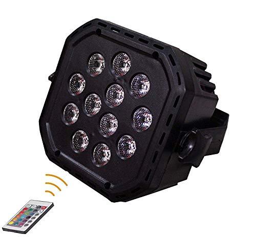 Groeien DJ Par Laser Light 12 LEDs 60W 512 RGBW with 24 Key Remote Controller Color Mixing Wash Can Par Light for Disco…