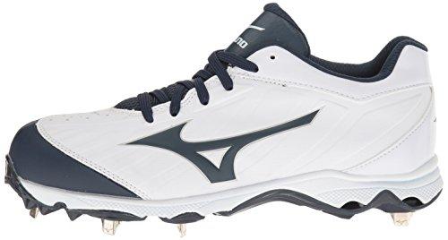 Mizuno Women's 9-Spike Advanced Sweep 3 Softball Shoe, White-Navy, 6.5 D US by Mizuno (Image #5)