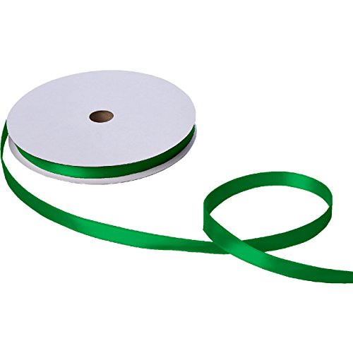 Jillson & Roberts Double-Faced Satin Ribbon, 5/8'' Wide x 100 Yards, Green by Jillson Roberts