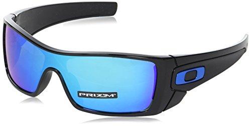 (Oakley Men's Batwolf Non-Polarized Iridium Rectangular Sunglasses, Polished Black, 0 mm)