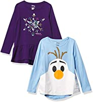 Spotted Zebra Girls Disney Star Wars Marvel Frozen Princess Long-Sleeve Tunic T-Shirts