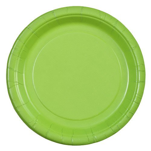 Party Dimensions 70572 24 Count Paper Plate, 7-Inch, Lime -