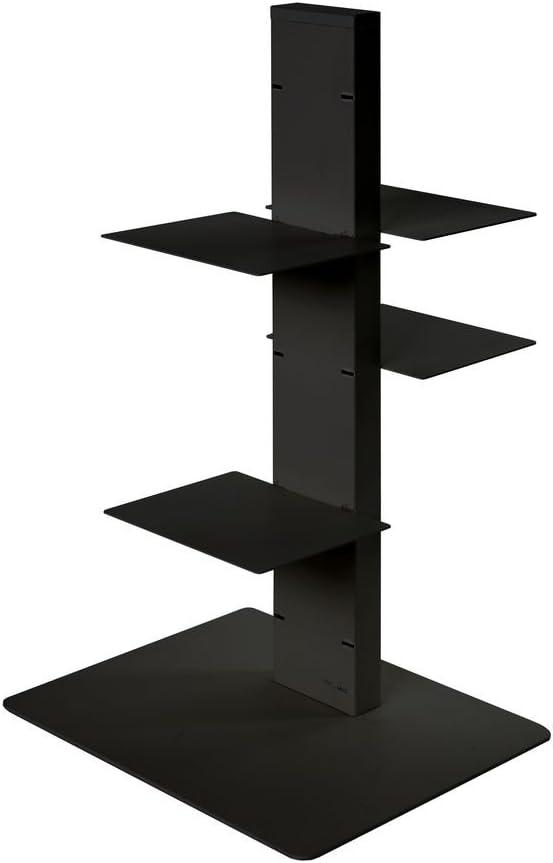 ARREDinITALY Colonna libreria Multiuso in Acciaio H.200 cm Nero Mensole modulabili e bifacciali