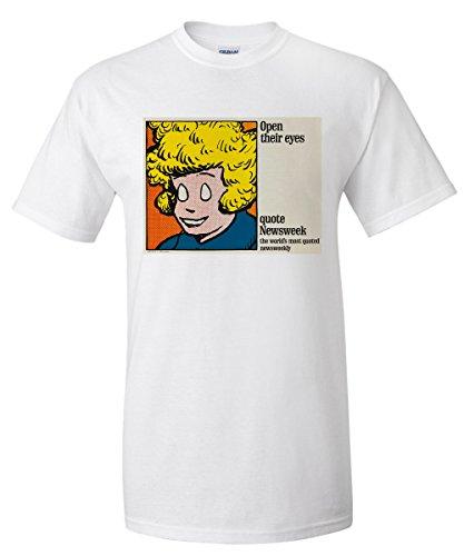 newsweek-open-their-eyes-annie-vintage-poster-usa-c-1964-white-t-shirt-xx-large