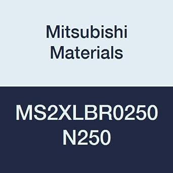 Long Neck 5 mm Cutting Diameter 25 mm Neck Length 2 Short Flutes Mitsubishi Materials MS2XLBR0250N250 Carbide Mostar Ball Nose End Mill 2.5 mm Corner Radius