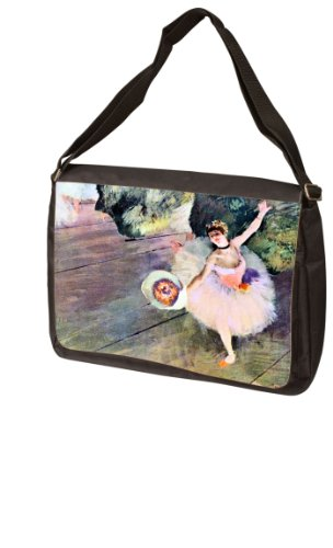 (MyHeritageWear.com Dancer with a bouquet of flowers The Star of the ballet By Edgar Degas Laptop Bag - Shoulder Bag - Messenger Bag)