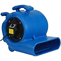 MOUNTO 3-Speed 3/4HP 3000CFM Air Mover Floor Carpet Dryers