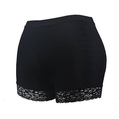HelloTem Women Lace Padded Seamless Butt Hip Enhancer Shaper Panties Underwear, Black, (US Size 2-4) S