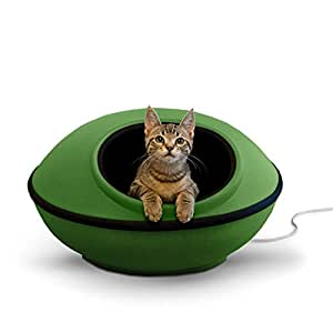 "K&H Pet Products Thermo-Mod Dream Pod Heated Pet Bed Green/Black 22"" 4W"
