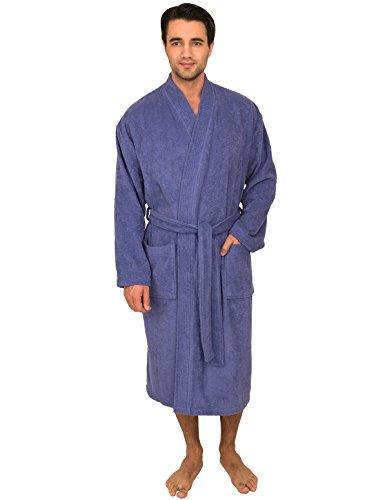 Cashmere Storm Jacket - TowelSelections Men's Robe, Turkish Cotton Terry Kimono Bathrobe X-Small/Small Violet Storm