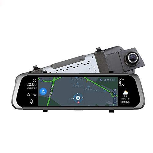 CARWORD Coche Dvr 10'IPS Touch 4G Espejo Dvr Android Adas GPS Fhd 1080P WiFi Espejo Retrovisor con Cámara