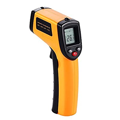 Digital Infrared Thermometer, Non-Contact Laser IR Temperature Gun Instant-read with 2 AAA Batteries(Included) Emissivity 0.95(fixed) Range -50 to 380¡æ(-58 to 716¨H)