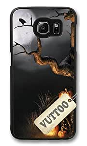 Samsung S6 Case,VUTTOO Cover With Photo: Halloween Scene For Samsung Galaxy S6 - PC Black Hard Case