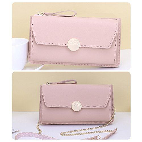 Envelope Party With Leather Handbag Bag Casual Chain Pink2 Clutch PU Strap For NOTAG Evening Women Clutches wUFqRY1