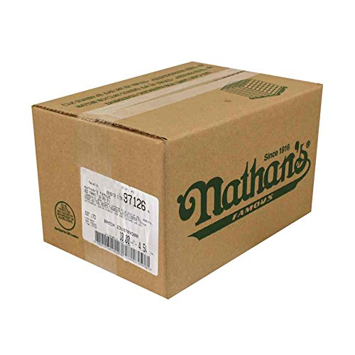 Hot Dog Nathans - Nathans Famous 5/1 Skinless Beef Frank, 7 inch -- 50 per case.