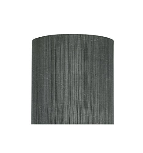 Aspen Creative 58301 Transitional Drum (Cylinder) Shape UNO Construction Lamp Shade in Grey & Black, 8