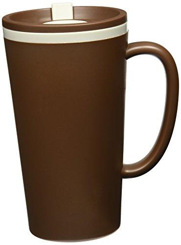 Microwave Safe Travel Mug (Copco Cone Double-Wall Desk Mug, 16-Ounce, Brown)