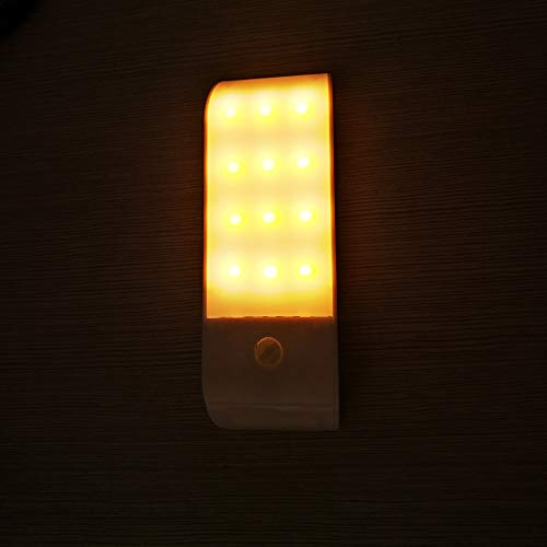 XSGDMN Closet Light, Wireless Under Cabinet Light with 3 Modes and USB Rechargeable for Entrance,Hallway,Basement,Garage etc,Yellowlight