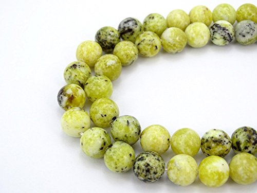 (jennysun2010 Natural Yellow Turquoise Gemstone 12mm Smooth Round Loose 30pcs Beads 1 Strand for Bracelet Necklace Earrings Jewelry Making Crafts Design)