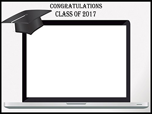 Custom Graduation Photo Booth prop frame - Size 36x24, 48x36; Personalized Class of 2017, graduation party, Graduation Hat PC Laptop Photo booth frame - Handmade DIY Party Supply Photo Booth Props Computer Booth