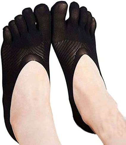 Nacome_Promotion Toe Socks No Show Low Cut Five Finger Socks Running Toe Sock Five Toe Sock Slippers Invisibility for Solid Color Socks Five Finger Socks Boat Ankle Sock for Womens Girls