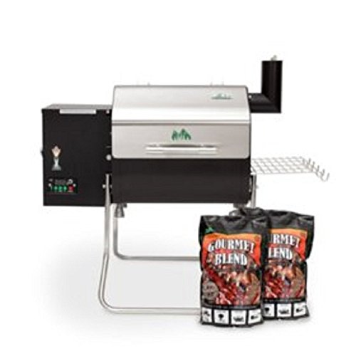 Green Mountain Grills Davy Crockett Wi-Fi Enabled Grill with 2 Pack Gourmet Blend Pellets
