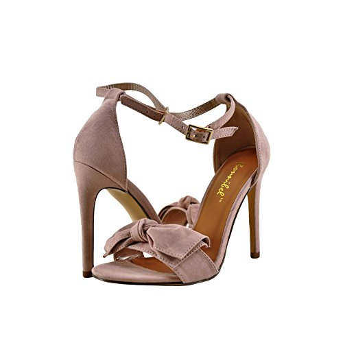 Ankle 1 Strap Bow Heel Open Bow Blush Tie Toe Bonnibel UHA4q7