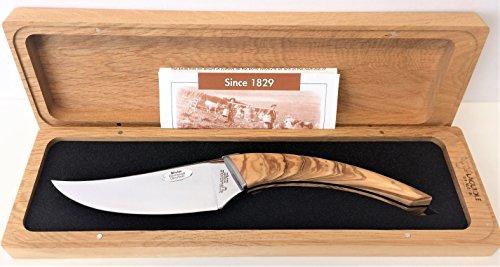 Laguiole en Aubrac Handmade Cheese Knife 'Le Buron' KMF99OLI/LZB1 Olivewood Handle by Laguiole en Aubrac