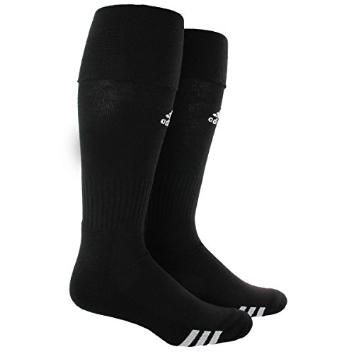 Athletic Soccer Cleats - adidas Rivalry Soccer Socks (2-Pack), Black/White, Large