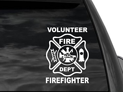 (FGD Volunteer Firefighter Window Car Truck Suv Decal)