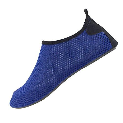 SENFI leichte Quick-Dry Wasser Schuhe für Wassersport Strand Pool Camp (Männer, Frauen, Kinder) D.blau