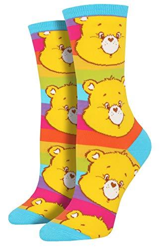 Socksmith Women's Funshine Yellow 9-11 (Women's Shoe Sizes 5-10.5)