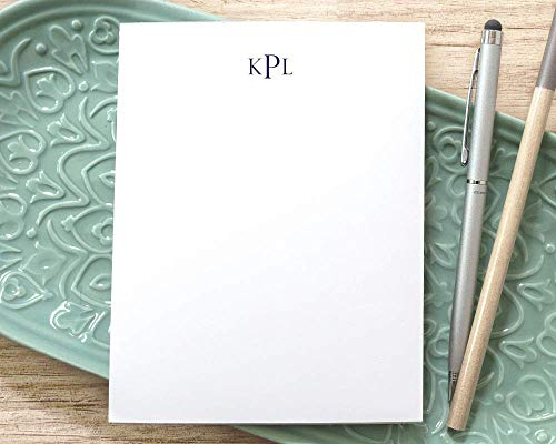 Personalized Monogrammed Notepad/Traditional Notepad with Monogram/Classic Simple Monogrammed Notepad