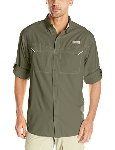 Columbia Men's Low Drag Offshore Long Sleeve Shirt, UPF 40 Protection, Moisture Wicking Fabric, Cypress, XX-Large