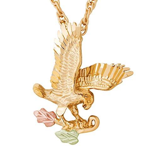(Black Hills Gold Eagle Pendant)