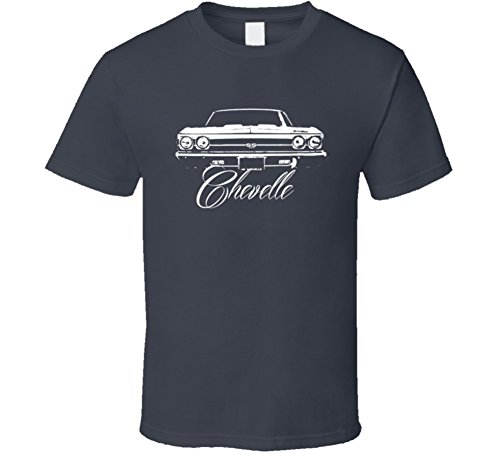 CarGeekTees.com 1969 Chevelle Grill View with Model T Shirt XL Charcoal Grey ()