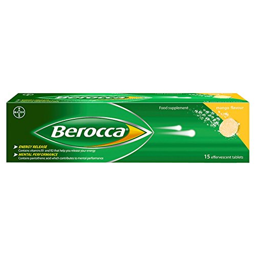 Berocca Mango Flavour 15 Effervescent Tablets (1)