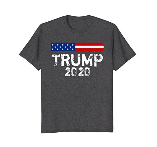 Supporter T-shirt - Mens Trump 2020 Supporters T-shirt 2XL Dark Heather