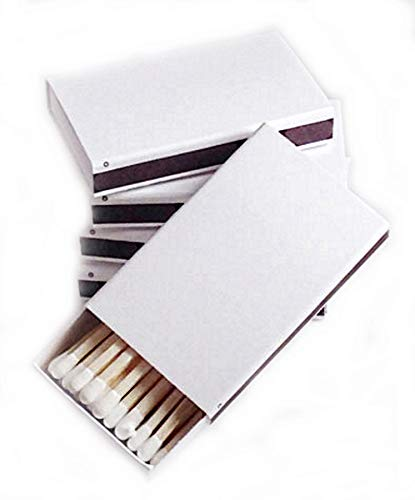Party Favors Plus 50 Plain White Cover Wooden Matches Box -