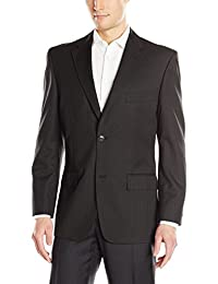 Haggar Men's Suit JacketTextured Stripe Classic Fit 2 Button Single Breasted