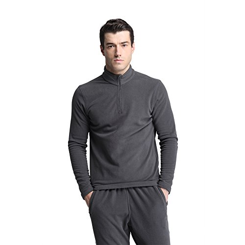 CoolDry Men's Comfort Anti-Pilling Micro Fleece 1/4-Zip Pullover (L, (Mens Microfleece Long Sleeve)