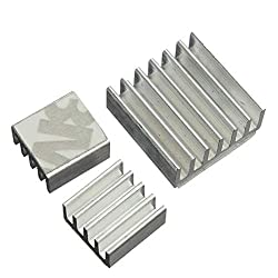 Nrthtri smt 60pcs Aluminum Adhesive Heatsink Cooler Kit for Cooling Raspberry Pi Board