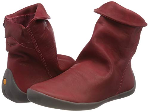Washed scarlet Ankle Women''s Boots Red 008 Nat332sof Softinos UwqEYxT1T