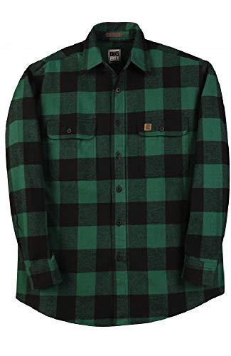 Big and Tall Heavy Duty Brawny Premium Flannel Shirts in Buffalo Plaid USA Made to 5X-Tall (Green Buffalo Plaid, Medium Tall) ()
