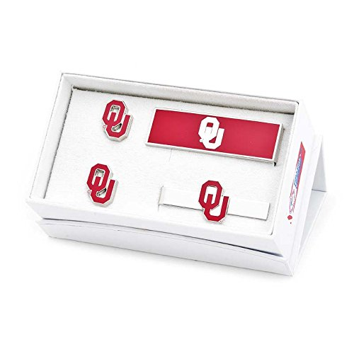 NCAA Mens Oklahoma University Sooners 3-Piece Gift Set by Cufflinks