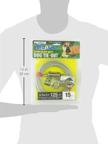 Boss Pet - Prestige 15ft Beast Dog Tie Out with Spring by Boss Pet Products (Image #5)