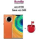 Huawei Mate 30 Pro 5G Smartphone Vegan Leather Orange + Freebuds 3 Red