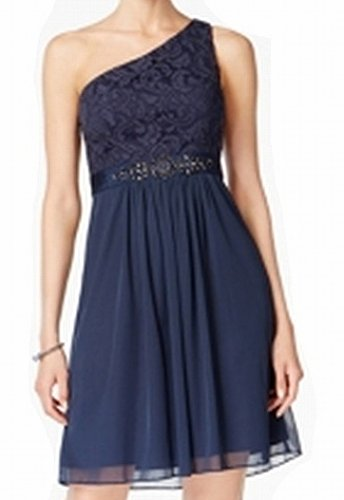 Adrianna Papell Womens Embellished Sheath Dress